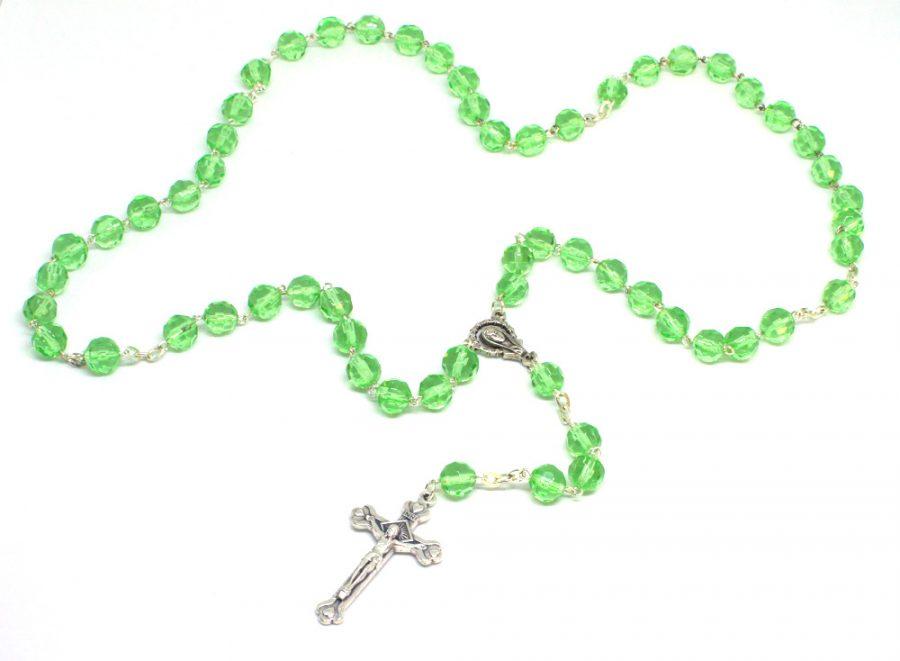 Holy Land Glistening Emerald Rosary
