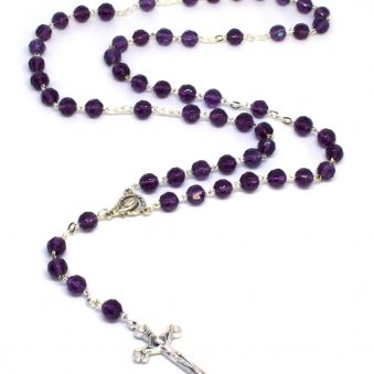 Holy Land Regal Amethyst Rosary