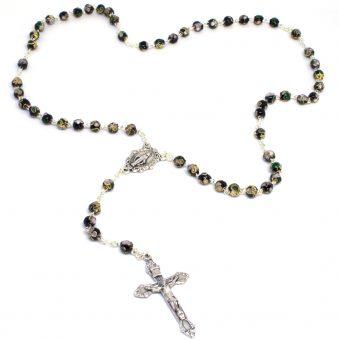 Italian Black Cloisonne Rosary