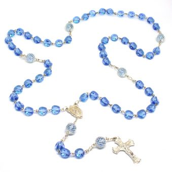 Rosary Boutique Stunning Blue Madonna Rosary